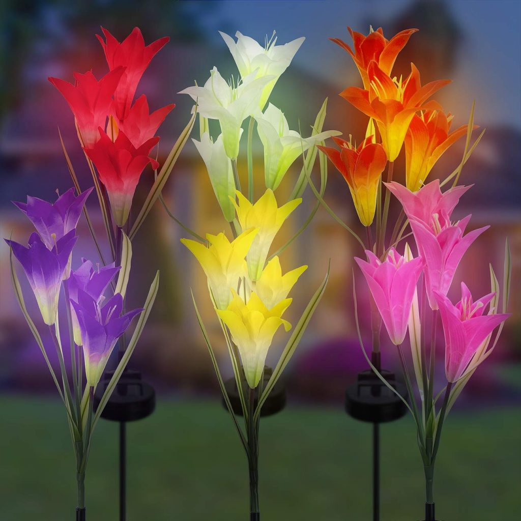 Solar Color Changing LED Flower Light