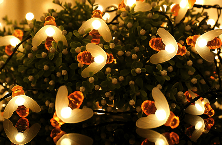 Solar Powered Cute Honeybee LED Lights