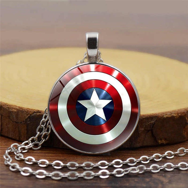 Captain America Shield Necklace for marval fans