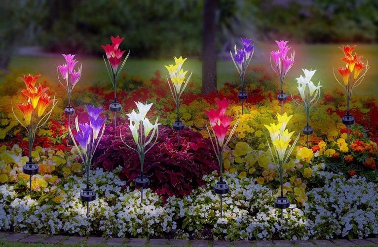 Best Outdoor Solar Garden Stake Lights Solar Flower Lights