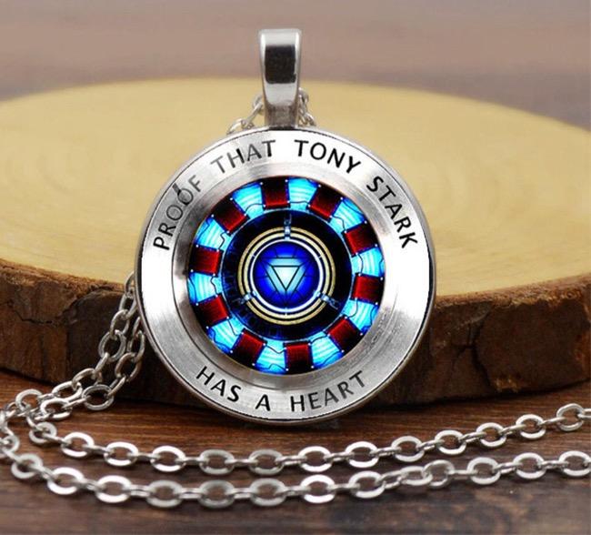 Iron Man Arc Reactor Glass Pendant Necklaces