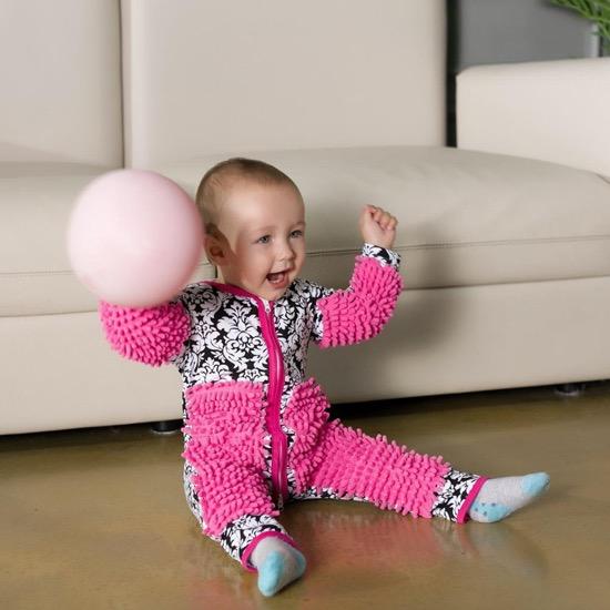 baby crawl mop suit