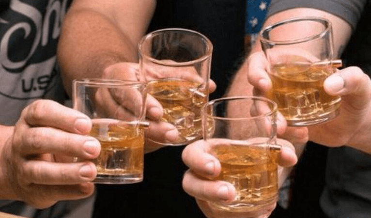 Whiskey Glass With Bullet