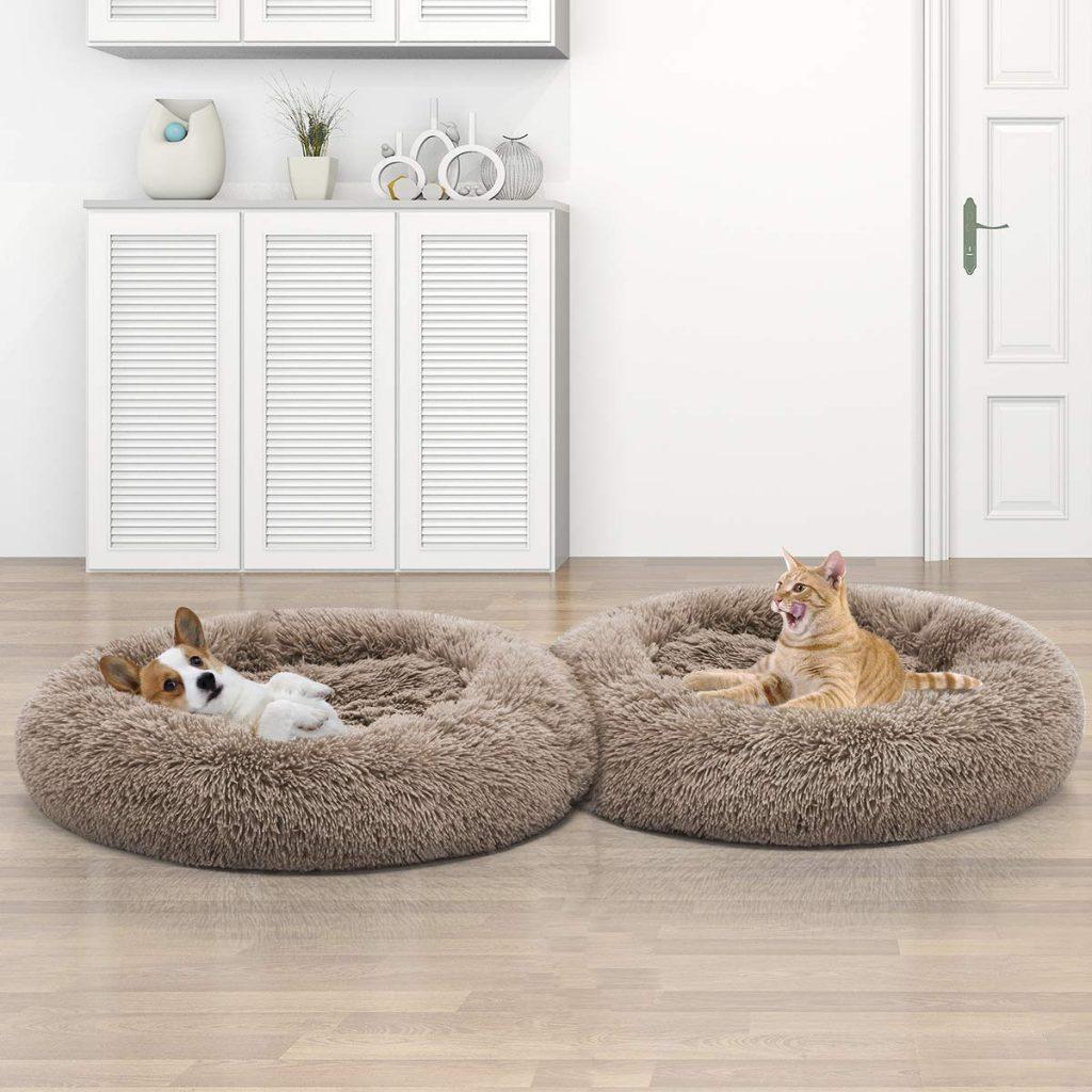 round orthopedic dog bed