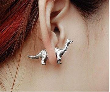 Cute Dinosaur Piercing Stud Earrings