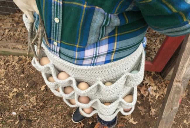 Egg Cellent Crochet Apron