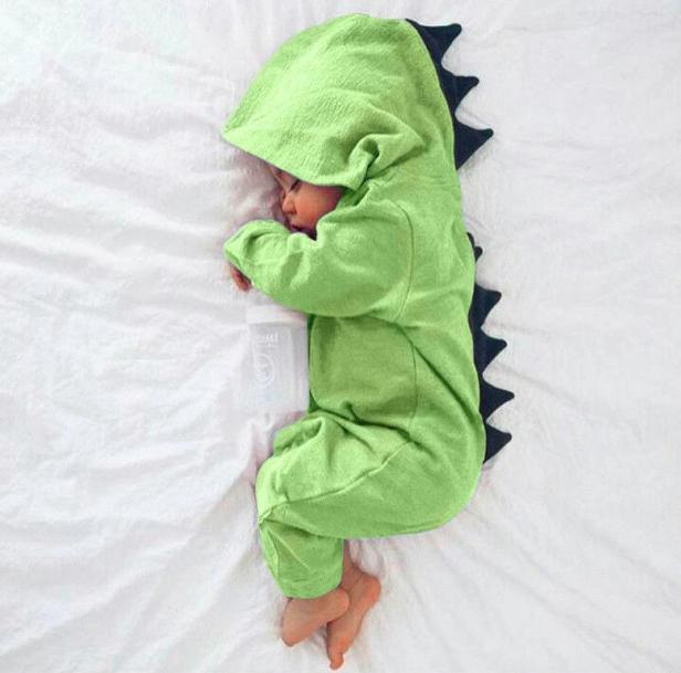 Dinosaur onesie baby