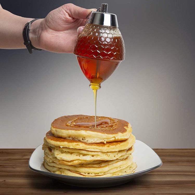 glass honey dispenser for kitchen