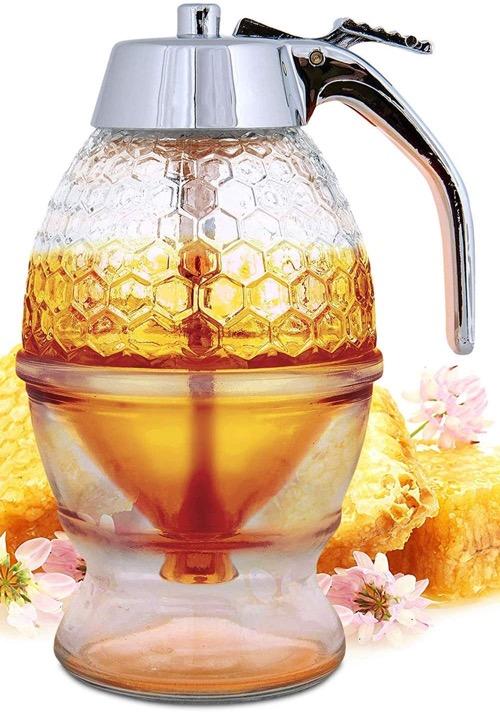 best glass honey dispenser