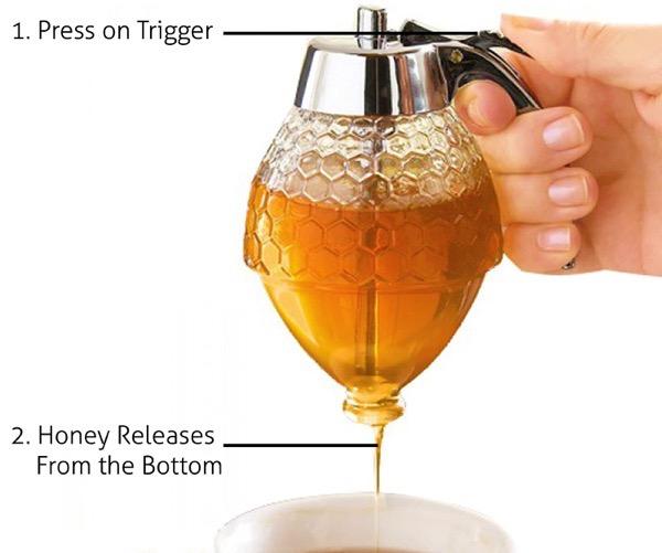 how to use glass honey dispenser