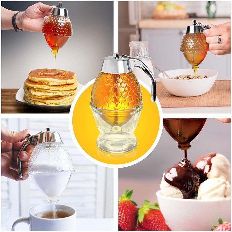 multi use glass honey dispenser