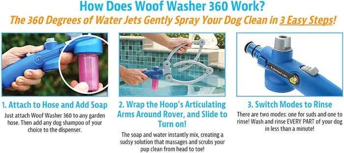Dog water hose attachment