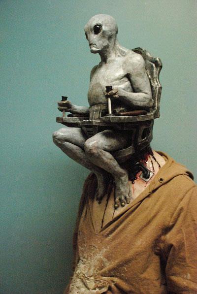 Realistic alien mask