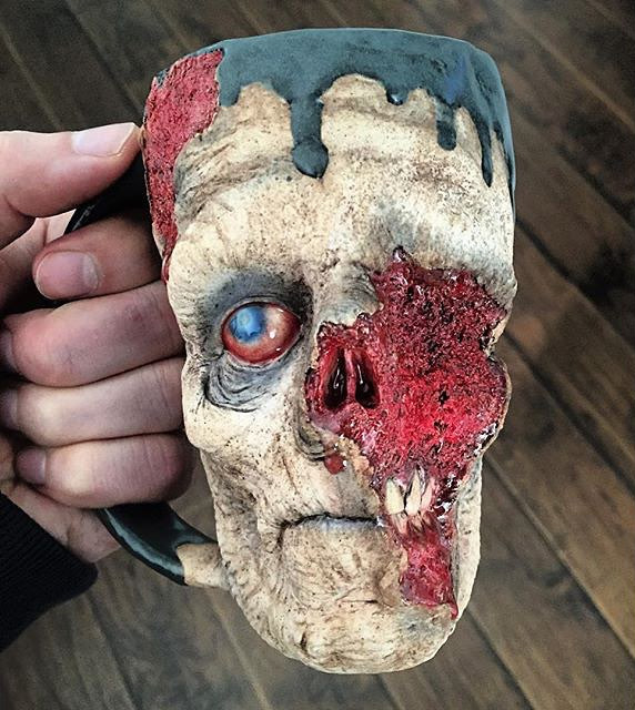 Zombie mug kevin turkey merck