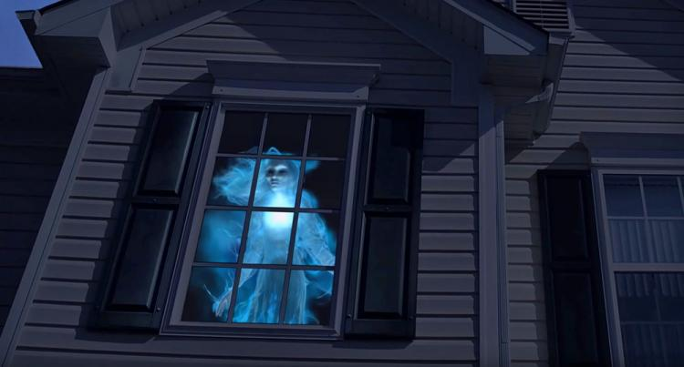 Haunted halloween projector