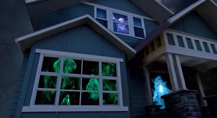 Halloween hologram machine