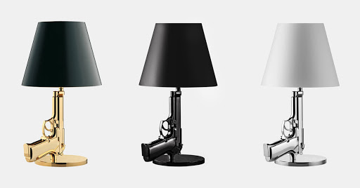 Pistol wall lamps