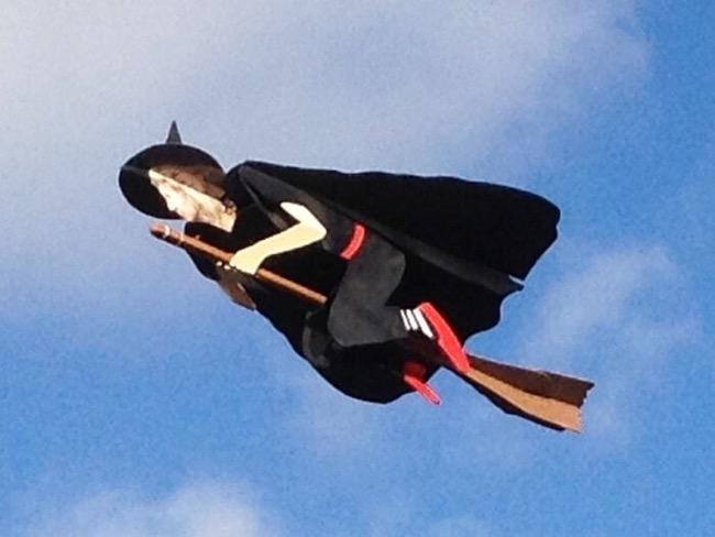 Radio control flying witch