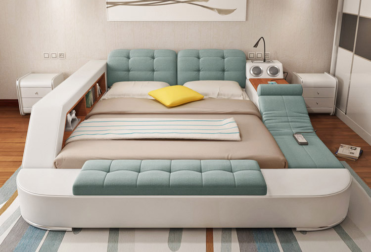 Bed with lounger