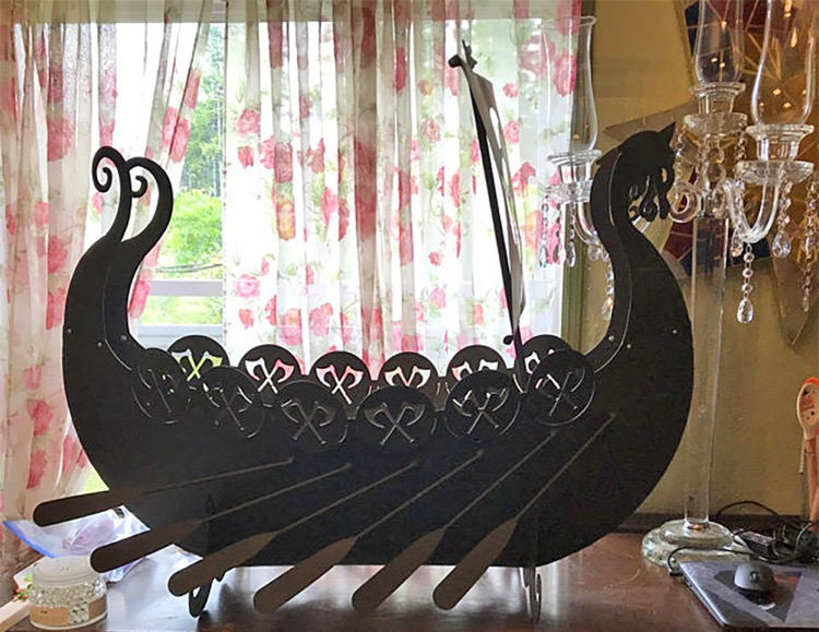 Viking ship fire pit for sale