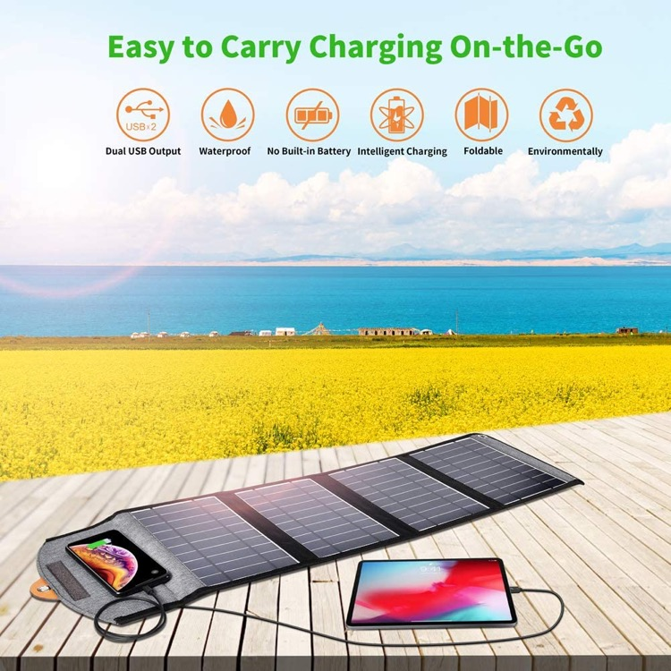best solar powered phone charger for backpacking