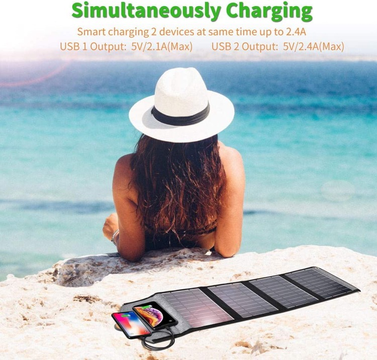 best solar powered phone charger for camping