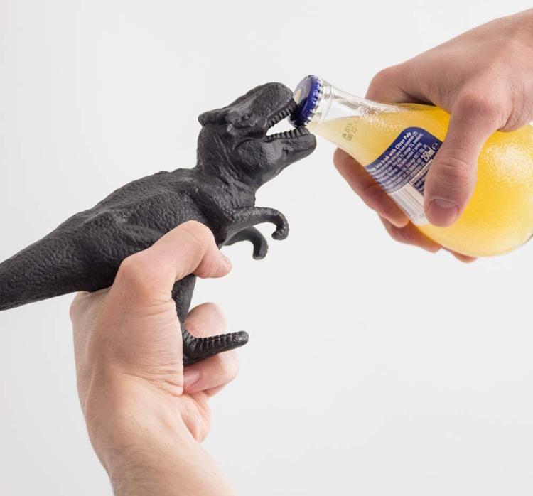 dinosaur bottle opener keychain