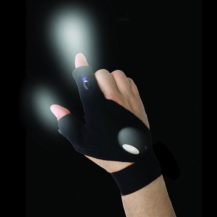 fingerless flashlight gloves