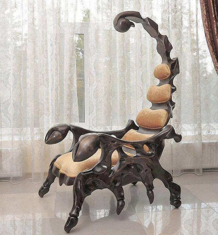 Wooden Scorpion Chair