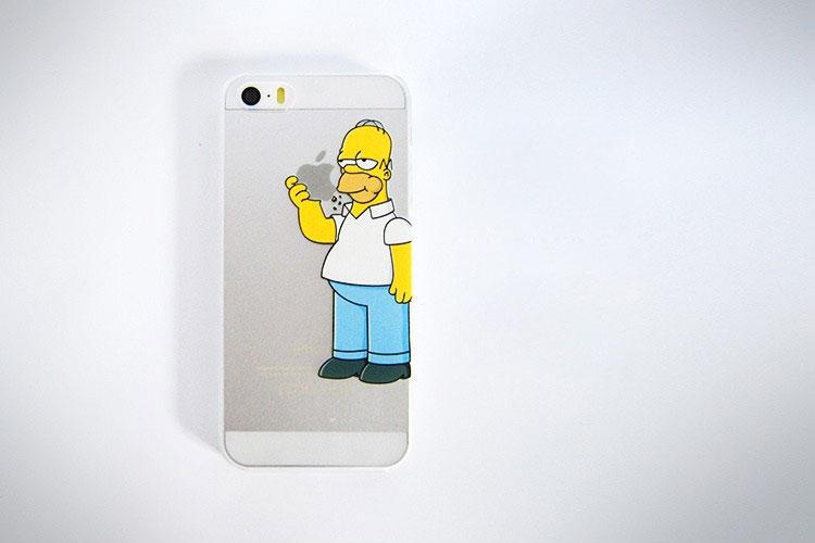 Homer eating apple sticker