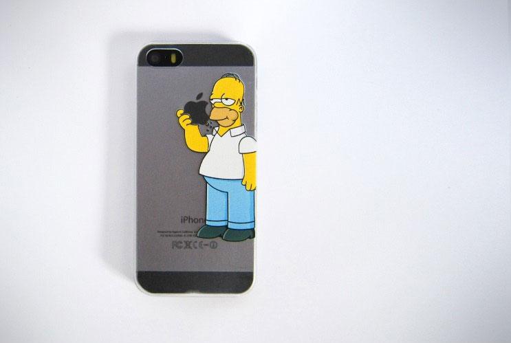 Homer simpson eating apple sticker