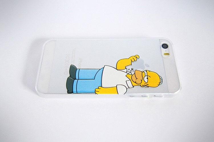 Homer simpson eating