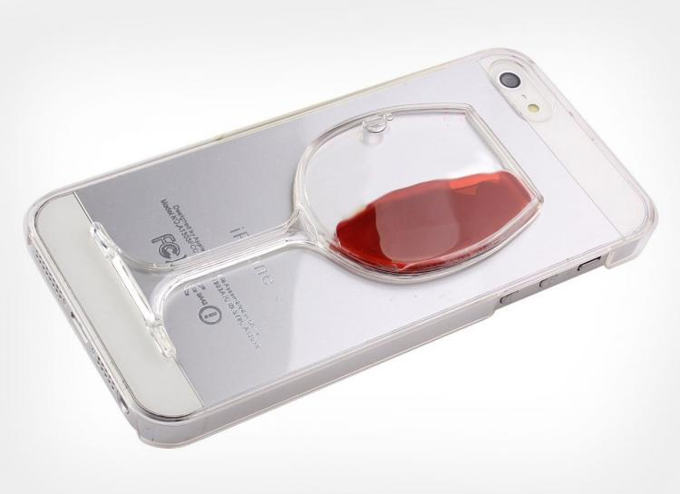 iPhone cover wine glass
