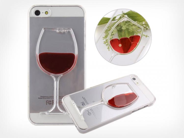 Red wine liquid iphone case